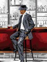 """Картина по номерам """"Мужчина в баре"""" (300х400 мм; арт. PC3040062)"""