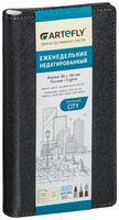 """Еженедельник недатированный """"City"""" (80x160 мм; черный)"""