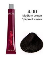 "Крем-краска для волос ""Collage Creme Hair Color"" (тон: 4/00, средний шатен)"