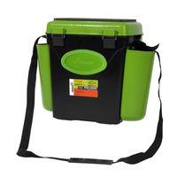 """Ящик зимний для рыбалки """"FishBox"""" 10 л (односекционный; чёрный/зеленый)"""