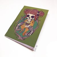 """Блокнот """"Девушка-скелет"""" (А5; арт. 748)"""