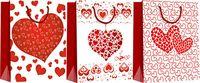 """Пакет бумажный подарочный """"Сердечки"""" (в ассортименте; 28х34х9 см; арт. WED16-UN3-PB-2834-MATF)"""