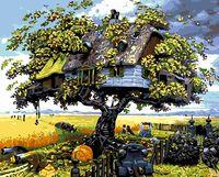 "Картина по номерам ""Дом на дереве"" (400х500 мм; арт. PC4050198)"