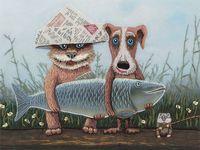 """Набор для вышивания """"Большая рыба"""""""