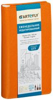 """Еженедельник недатированный """"City"""" (80x160 мм; оранжевый)"""