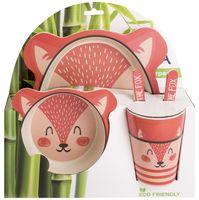 """Набор для завтрака бамбуковый """"Лиса"""" (5 предметов)"""