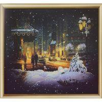 """Алмазная вышивка-мозаика """"Огни зимнего города"""""""