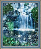 """Алмазная вышивка-мозаика """"Искрящийся водопад"""" (500х400 мм)"""