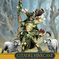 """Миниатюра """"Warhammer FB. Finecast: Wood Elf Orion King in the woods"""" (92-40)"""