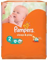 """Подгузники """"Pampers Sleep&Play Chamomile Mini"""" (3-6 кг, 18 шт, арт. 0001010718)"""