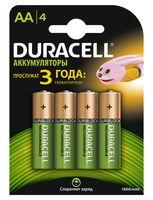 Аккумуляторы DURACELL никель-металлгидридные AA HR6 1300mAh (4 штуки)