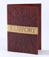 Обложка для паспорта (коричневая, 009-07-07-14)