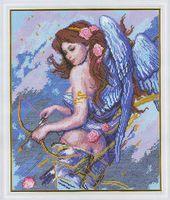 """Вышивка крестом """"Ангел с луком"""""""