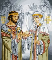 """Вышивка крестом """"Петр и Феврония"""" (арт. 1089)"""