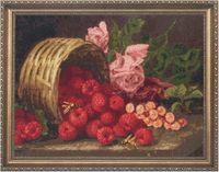 """Вышивка крестом """"Розы и малина"""""""