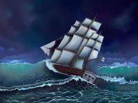 """Алмазная вышивка-мозаика """"Во время шторма"""" (550х410 мм)"""