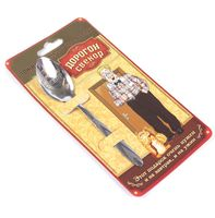 """Ложка чайная металлическая на открытке """"Дорогой свекор"""" (137 мм)"""