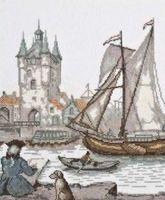 """Вышивка крестом """"Голландский художник"""" (230х260 мм)"""