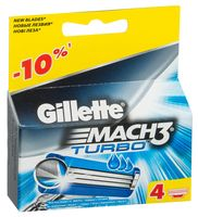 Кассета для станка Gillette Mach3 Turbo (4 шт)