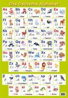 Немецкий алфавит. Образцы печатных и письменных букв (настенный плакат)