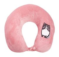 """Подушка под шею """"Cat"""" (розовая)"""