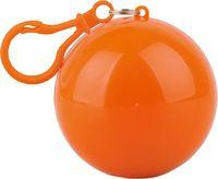 Дождевик в футляре с карабином (оранжевый)