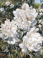 """Картина по номерам """"Пионы в саду"""" (300х400 мм)"""