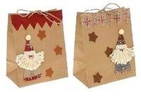 "Пакет бумажный подарочный ""Дед Мороз"" (20х13х25 см)"