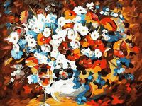 """Картина по номерам """"Цветочное настроение"""" (400x500 мм)"""