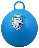 """Мяч-попрыгун """"Медвежонок"""" (65 см; с ручкой; синий)"""