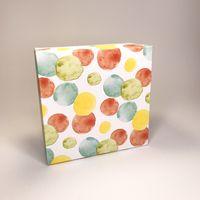 """Подарочная коробка """"Сочная акварель"""" (16x16x7,5 см)"""