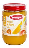 """Детское пюре Semper """"Манго и банан"""" (190 г)"""
