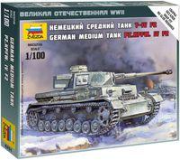 "Сборная модель ""Немецкий средний танк Pz.Kpfw. IV F2"" (масштаб: 1/100)"