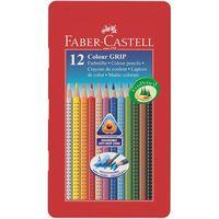 Цветные карандаши GRIP 2001 в металлической коробке (12 цветов)