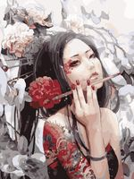 "Картина по номерам ""Портрет гейши"" (400х500 мм)"