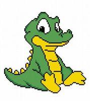"""Вышивка крестом """"Маленький крокодил"""""""