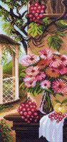 """Канва с нанесенным рисунком """"Натюрморт с цветами"""""""