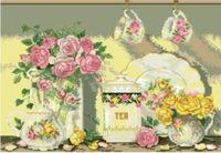 """Канва с нанесенным рисунком """"Натюрморт с розами"""""""
