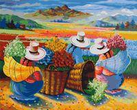 """Картина по номерам """"Сбор урожая цветов в Перу"""" (400х500 мм)"""