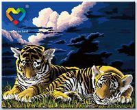 "Картина по номерам ""Тигрята перед сном"" (400x500 мм; арт. HB4050026)"