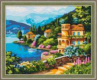"Картина по номерам ""Вид озера Комо"" (400х500 мм)"
