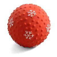 """Игрушка для собак с пищалкой """"Мячик-снежинка"""" (7,5 см)"""
