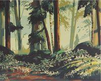 "Картина по номерам ""Опушка на рассвете"" (400x500 мм)"