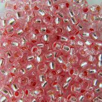 Бисер прозрачный с серебристым центром №08273 (светло-розовый)