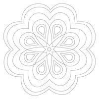 """Трафарет для рисования песком """"Мандала №2"""" (21x21 см)"""
