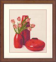 """Вышивка крестом """"Тюльпаны"""" (310х285 мм)"""