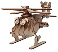 """Сборная деревянная модель """"Вертолет Серж"""""""