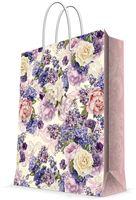 "Пакет бумажный подарочный ""Лиловые букеты"" (26х32,4х12,7 см; арт. 44230)"