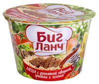 """Лапша быстрого приготовления с соусом """"Биг Ланч. С ароматной говядиной, грибами и зеленью"""" (90 г)"""