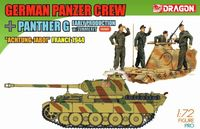"Набор миниатюр ""German Panzer Crew Achtung-Jabo & Panther G Early Production w/Zimmerit France 1944"" (масштаб: 1/72)"